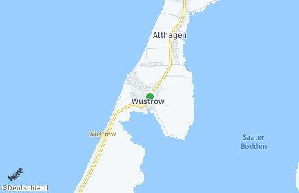 Stadtplan Wustrow (Fischland)