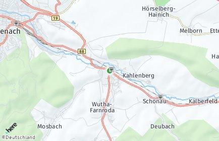 Stadtplan Wutha-Farnroda