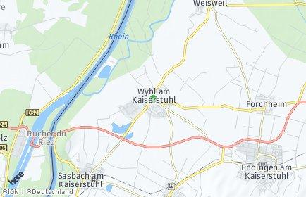 Stadtplan Wyhl am Kaiserstuhl