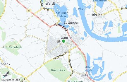 Stadtplan Xanten
