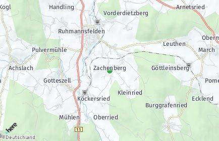 Stadtplan Zachenberg OT Gottlesried