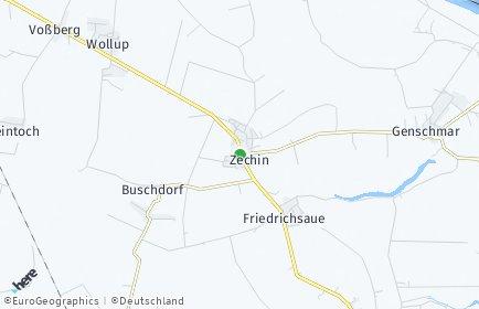 Stadtplan Zechin