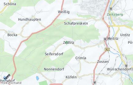 Stadtplan Zedlitz