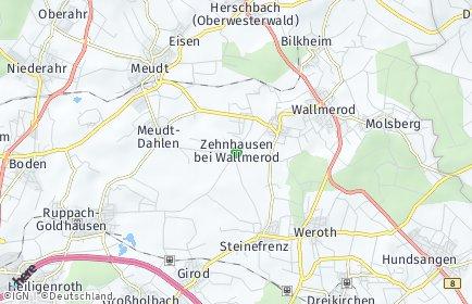Stadtplan Zehnhausen bei Wallmerod