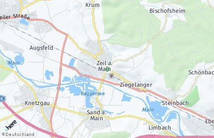 Stadtplan Zeil am Main