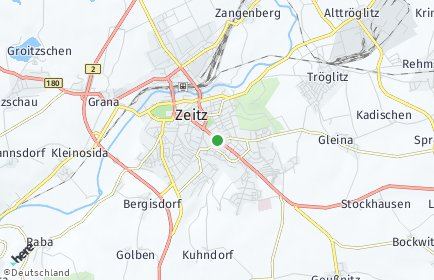 Stadtplan Zeitz OT Zeitz