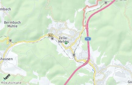 Stadtplan Zella-Mehlis