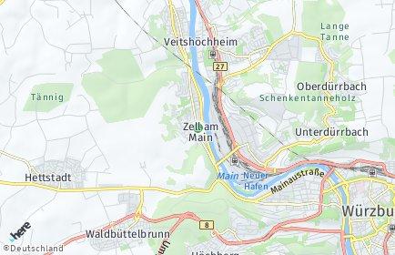 Stadtplan Zell am Main