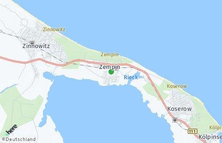 Stadtplan Zempin