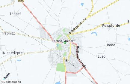 Stadtplan Zerbst/Anhalt OT Nutha