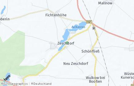 Stadtplan Zeschdorf