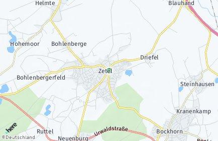 Stadtplan Zetel