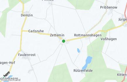 Stadtplan Zettemin