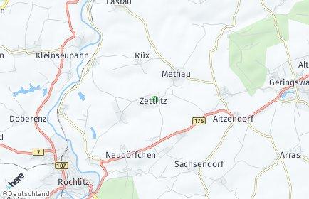 Stadtplan Zettlitz