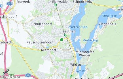 Stadtplan Zeuthen
