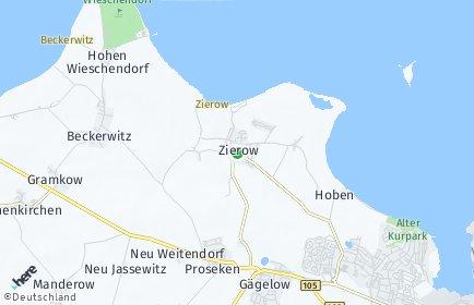 Stadtplan Zierow