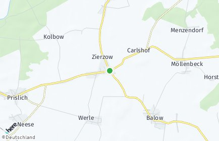 Stadtplan Zierzow