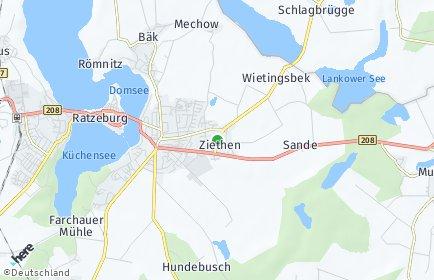 Stadtplan Ziethen (Lauenburg)