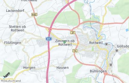 Stadtplan Zimmern ob Rottweil
