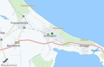 Stadtplan Zinnowitz