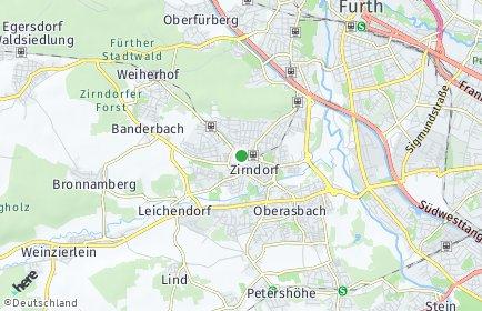 Stadtplan Zirndorf