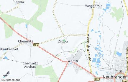 Stadtplan Zirzow