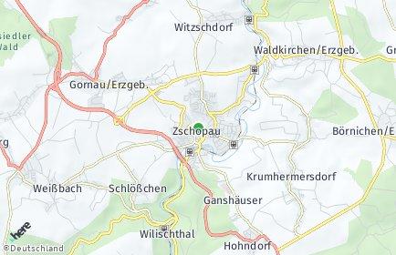 Stadtplan Zschopau