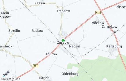 Stadtplan Züssow