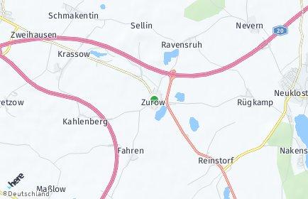 Stadtplan Zurow