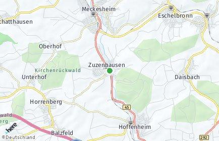 Stadtplan Zuzenhausen