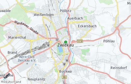 Plz Zwickau Sachsen Postleitzahlen 08056 08066 Zwickau Deutschland
