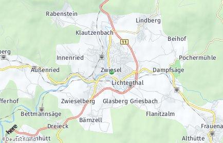 Stadtplan Zwiesel