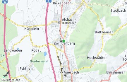 Stadtplan Zwingenberg (Bergstraße)