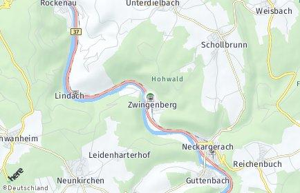 Stadtplan Zwingenberg (Baden)