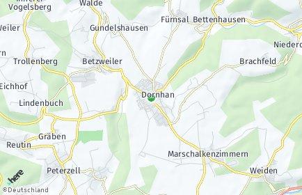 Stadtplan Dornhan