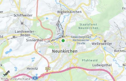 Stadtplan Neunkirchen (Saar)