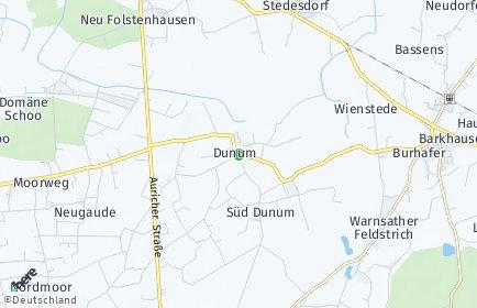 Stadtplan Dunum