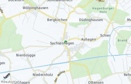 Stadtplan Sachsenhagen