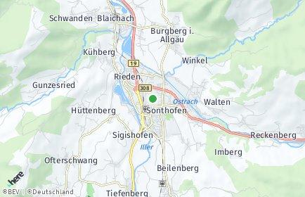Stadtplan Oberallgäu