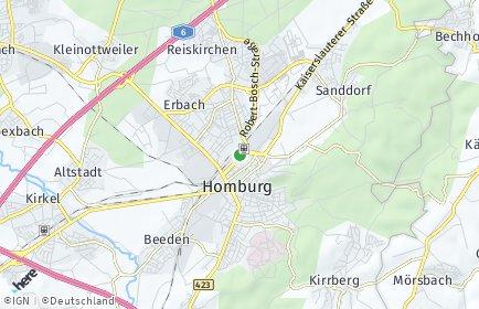 Stadtplan Saarpfalz-Kreis