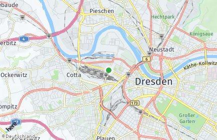 Stadtplan Dresden OT Friedrichstadt