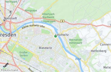 Stadtplan Dresden OT Blasewitz/Neugruna