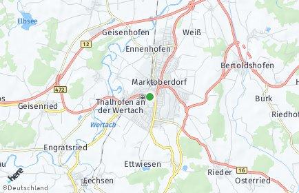 Stadtplan Ostallgäu