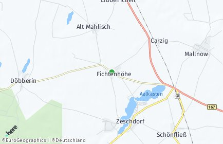 Stadtplan Fichtenhöhe