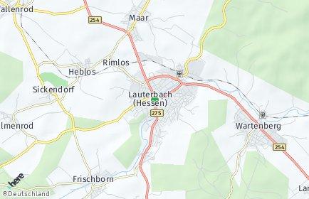 Stadtplan Vogelsbergkreis