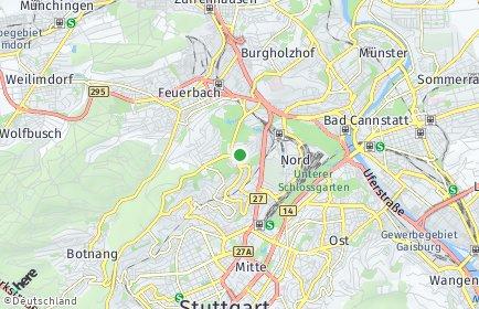 Stadtplan Stuttgart OT Stuttgart-Nord