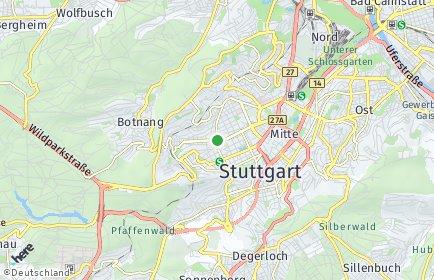 Stadtplan Stuttgart OT Stuttgart-West