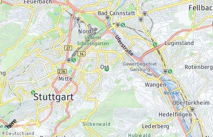 Stadtplan Stuttgart OT Stuttgart-Ost