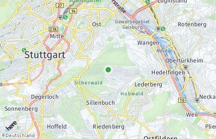 Stadtplan Stuttgart OT Frauenkopf