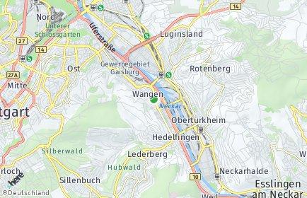Stadtplan Stuttgart OT Wangen